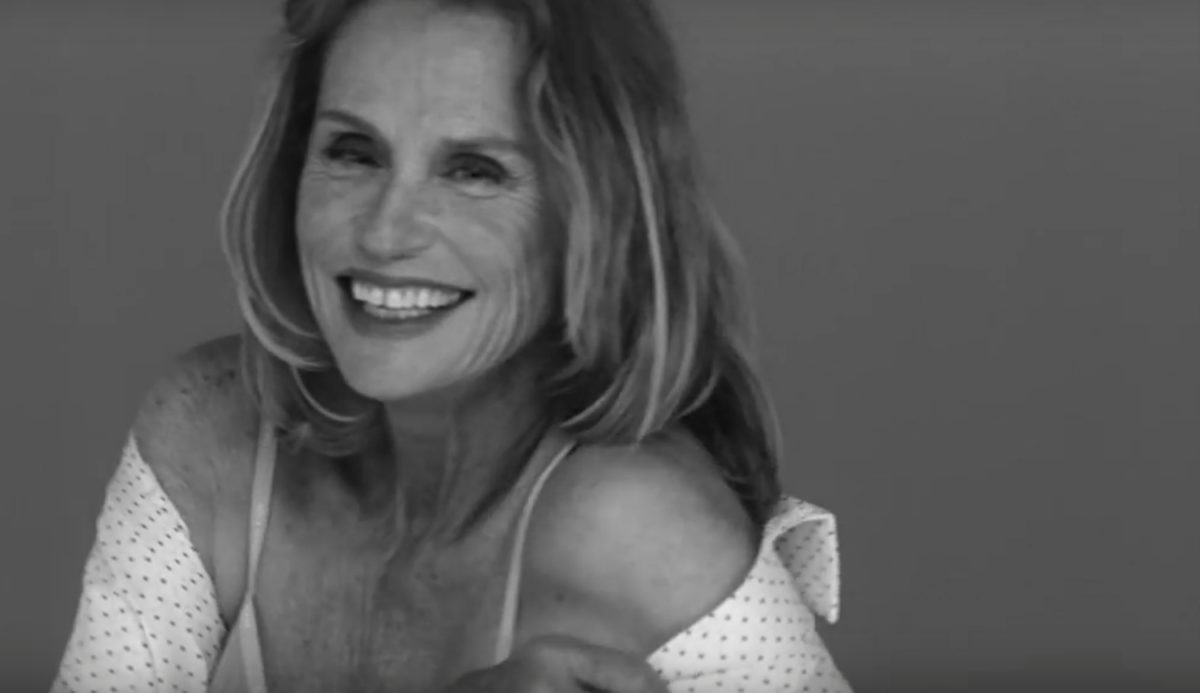 LAUREN HUTTON FOR CALVIN KLEIN: LOOKING GREAT IN UNDERWEAR KNOWS NO AGE