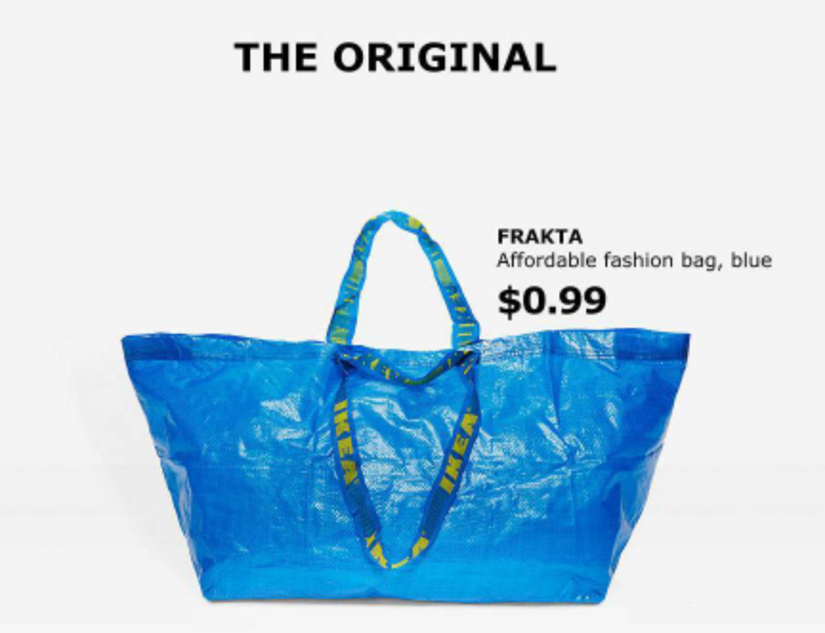 THE OFFICIAL RESPONSE TO BALENCIAGA'S TAKE ON THE IKEA FRAKTA-BAG