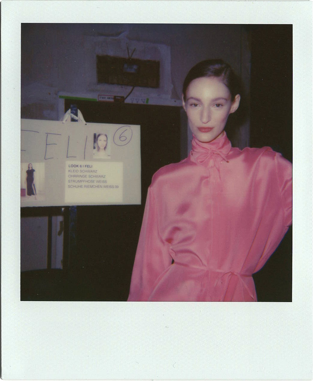 MAILAIKARAISS SS18 BERLIN FASHION WEEK BACKSTAGE POLAROID