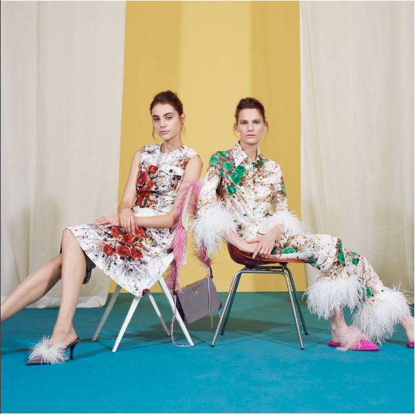 MYTHERESA.COM X PRADA CAPSULE COLLECTION MIU MIU MIUCCIA FEATHERS EXCLUSIVE