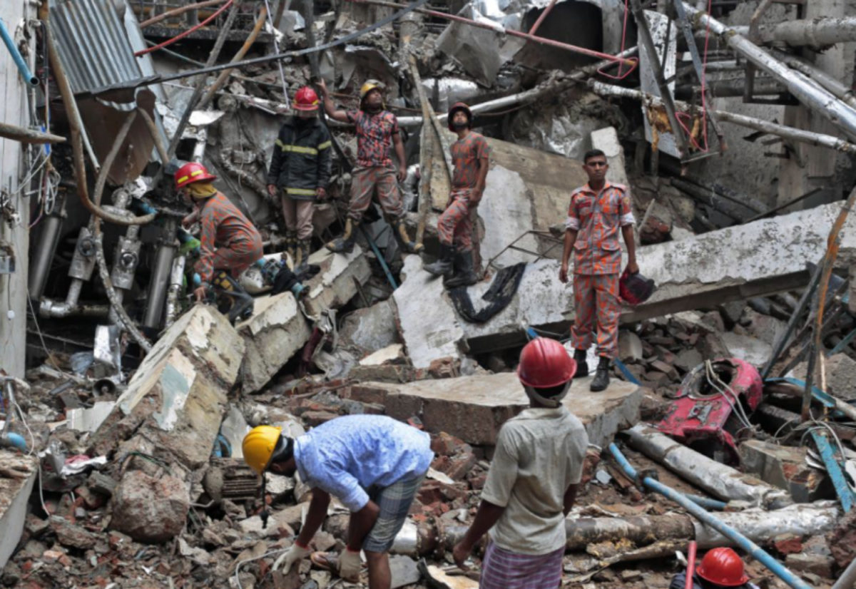 EXPLOSION IN BANGLADESH GARMENT FACTORY KILLS 10 PEOPLE