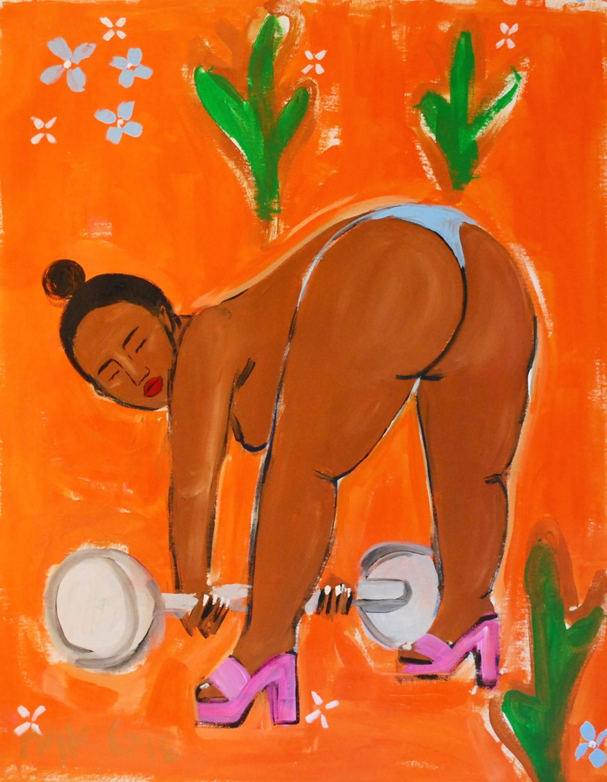 MONICA KIM GARZA PAINTING NUDE WOMEN FEMINIST PEOPLE OF COLOR