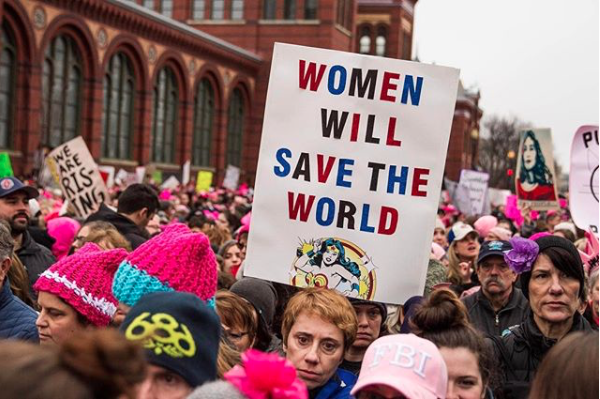 WOMEN'S MARCH DEMONSTRATION PROTEST DONALD TRUMP FEMINISM ACTIVISM