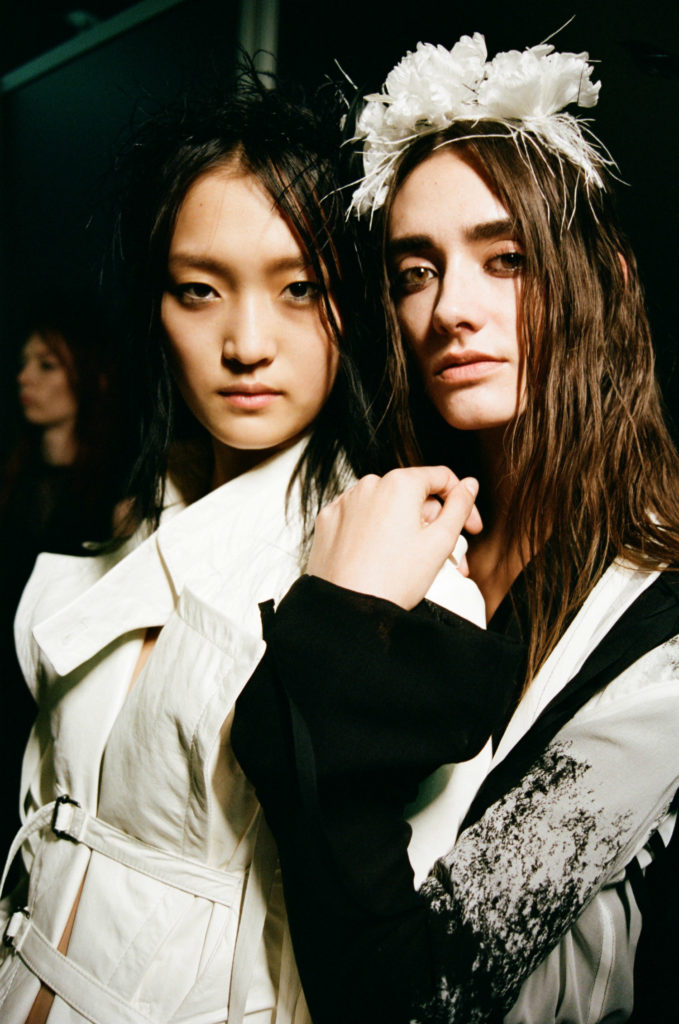 Backstage Ann Demeulemeester SS18 Paris Fashion Week