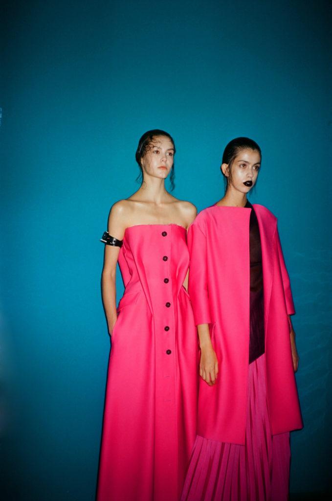 Yang Li SS18 Backstage Paris Fashion Week