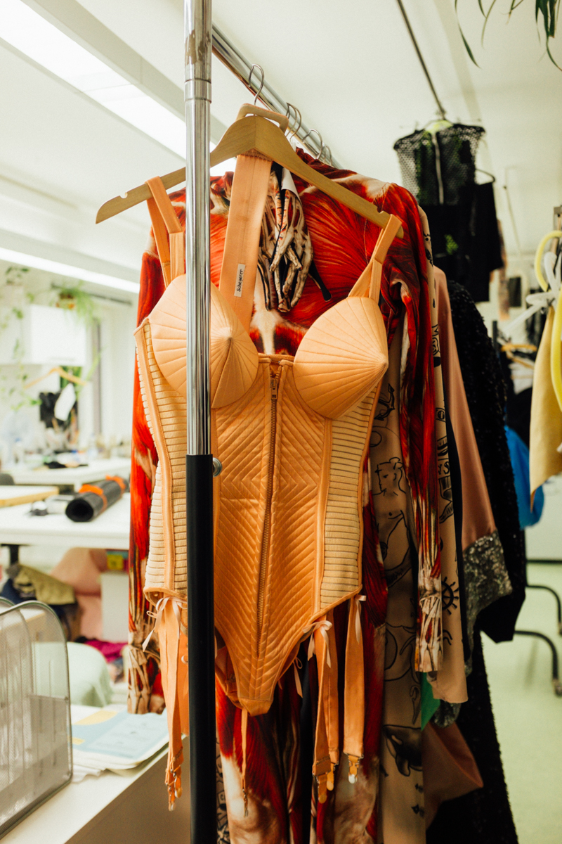 BACKSTAGE AT 'THE ONE' SHOW WITH THE JEAN-PAUL GAULTIER COSTUMES